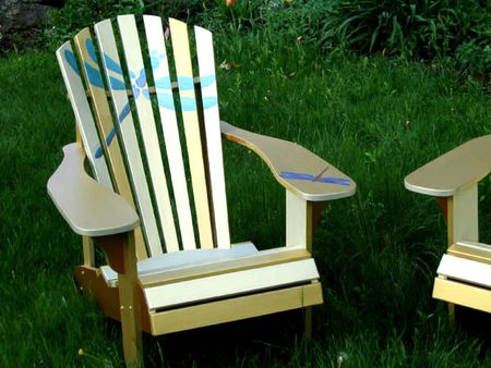 Gold Adirondack Chairs by Alderman