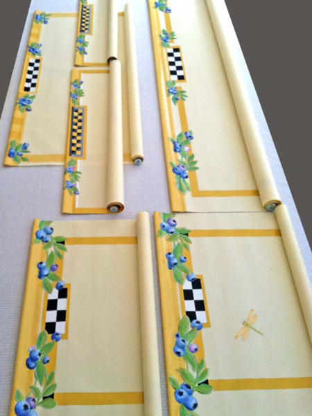Artist Holly Alderman paints custom window shades with beautiful decorative arts