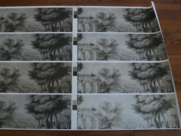 Views of antiquity grisaille proofs