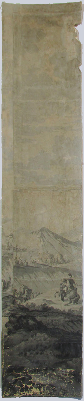 Holly Alderman, Dufour Grisaille Wallpaper Panorama, 1815, Panel E (of 16) 74 in. h