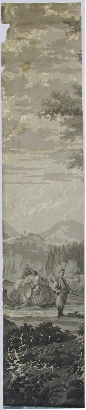 Holly Alderman, Dufour Grisaille Wallpaper Panorama, 1815, Panel F (of 16) 74 in. h