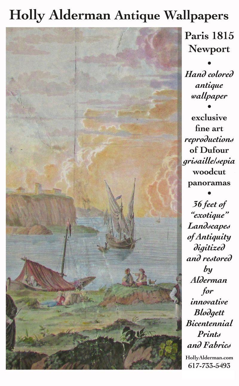 Holly Alderman, exclusive hand painted antique #wallpaper scenes #WallScenes200