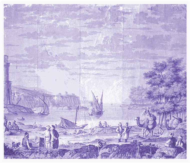 T - lavendar bay in lavendar, light