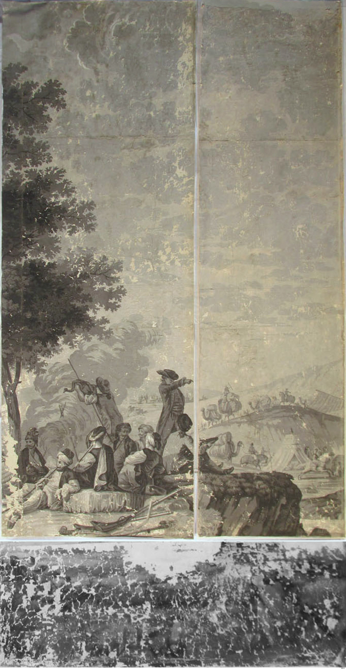 Holly Alderman, Dufour Grisaille Wallpaper Panorama, 1815, Panel D (of 16) 74 in. h