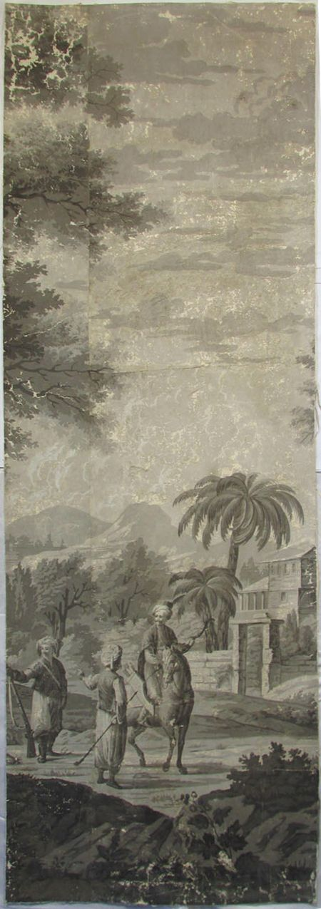 Holly Alderman, Dufour Grisaille Wallpaper Panorama, 1815, Panel H (of 16) 74 in. h